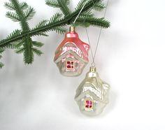 Set of 2 Christmas tree decoration Cute Little von OldBagFromRussia