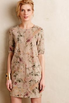 Tea Rose Suede Sheath - anthropologie.com