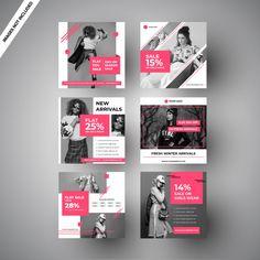 Graphic][Design Pink fashion sale social media post for digital marketing Premium vector Zucchini: A Social Media Template, Social Media Banner, Social Media Design, Social Media Graphics, Social Media Posts, Instagram Design, Web Design, Youtube Cover, Logo Boutique