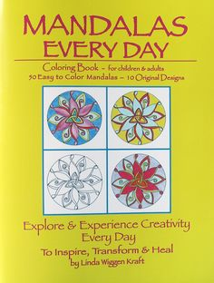 Mandala Coloring with watercolors, colored pencils, oil pastels, inks. Playing with mandalas and colors from my coloring book Mandalas Every Day by Linda Wiggen Kraft. Etsy shop CreativityForTheSoul (no spaces).