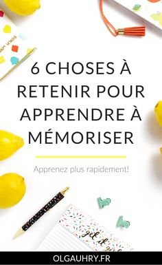 6 things to remember to learn to memorize - Olga Uhry - Web Writing, Translation, Social Media Manager - Olav Bertolin Back To School Organization, Study Organization, Organization And Management, Back To School Highschool, Work Productivity, Back To School Bulletin Boards, Health Psychology, Psychology Careers, Personality Psychology