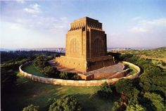 The Voortrekker Monument in Pretoria, South Africa: Little House on the Prairie meets colonial violence meets monumental fascist-esque architecture. Very special to the Afrikaner people Pretoria, Zimbabwe, Monuments, Beautiful Buildings, Beautiful Places, Namibia, Kruger National Park, To Infinity And Beyond, African History