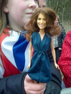 "5 April 2013: 11-year old Dayna Miller showed Kate the ""Princess Catherine"" doll she got for Christmas. The girl said ""Kate looked at it and said 'No! Oh no, is that me? Is that meant to be me? does my hair look like that?'. ""Then she asked me where I got it from. She's much prettier in real life"". You can see a video of the funny moment at ITV."