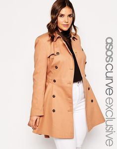 Image 1 of ASOS CURVE Exclusive Classic Trench