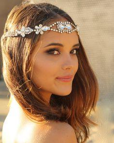Mini Vintage Swarovski Crystal Hippie Headband by DolorisPetunia