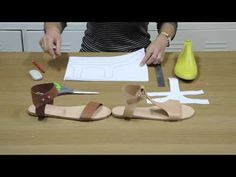 How to make easy patterns for sandals - YouTube