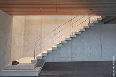 Project: West Vancouver House - Nick Milkovich Architects Inc. Vancouver House, Stair Railing, Railings, Concrete Architecture, Concrete Stairs, Interior Stairs, Architectural Features, House Design, Exterior