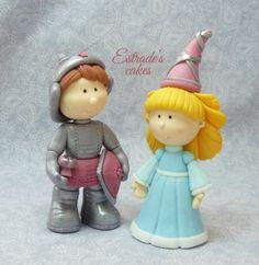 Estrade's cakes: doncella y caballero modelados en azúcar
