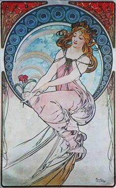 Painting by Alphonse Mucha