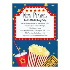 240 best movie birthday party invitations images on pinterest movie birthday invitations movie party birthday party invitation stopboris Gallery