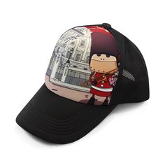 """None shall pass. Her Majesty's Tin Trombone Battalion is on guard and all intruders will be serenaded on sight. This colorful snap-back trucker hat depicts one of the many android adventures straight from the mind of Fu."" by legoloverbui $23.99"