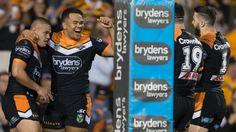 Wests Tigers farewell Aaron Woods and James Tedesco in style against Warriors - The Sydney Morning Herald #757Live