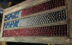 American flag vintage window mosaic