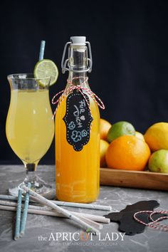 refreshing orange-lemon syrup – The Apricot Lady – Cocktail Mojito Drink, Mango Mojito, Tequila Drinks, Margarita Cocktail, Cocktail Drinks, Cocktails, Refreshing Drinks, Fun Drinks, Strawberry Tequila