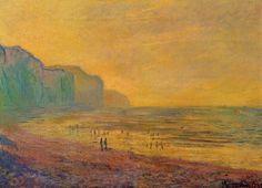 Claude Monet - Low Tide at Pourville, Misty Weather, 1882