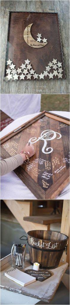 25 Creative Wedding Guest Book Ideas - Page 2 of 2 scrapbook wedding layouts Wedding Party Invites, Elegant Wedding Invitations, Wedding Stationery, Wedding Gifts, Party Invitations, Baby Wedding, Our Wedding, Dream Wedding, Wedding Vows
