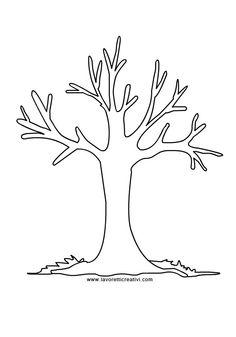 Strom javor - šablona