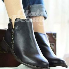 Buy 'Clair Fashion – Faux-Leather Zip-Side Short Boots' with Free International Shipping at YesStyle.com. Browse and shop for thousands of Asian fashion items from Taiwan and more!