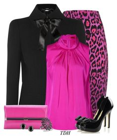 """""""Leopard, Pink & Bows"""" by talvadh ❤ liked on Polyvore featuring Alice by Temperley, Alexander McQueen, HUGO, Diane Von Furstenberg, David Yurman and Miadora"""