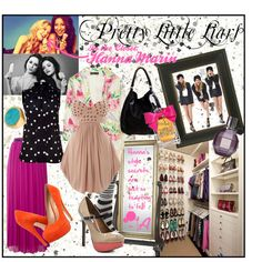 Pretty Little Liars: Hanna Marin by crasjiazygood on Polyvore featuring House of Dereon, MARC BY MARC JACOBS, Elizabeth and James, Maggie and Me, Hue, ALDO, Steve Madden, Anya Hindmarch, Linea Pelle and Michael Kors