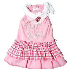 Vestido Babadinhos Broche Rosa Dear Dog - MeuAmigoPet.com.br #petshop #cachorro #cão #meuamigopet