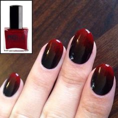 Image result for ombre red to black nails