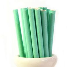Mint Paper Straws (Pack of 25)