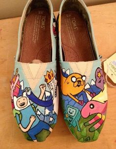Adventure time inspired Tom shoes @Kate F. Hamm