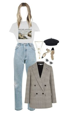 """""""Vibes"""" by littlemissshannonelizabeth ❤ liked on Polyvore featuring RE/DONE, STELLA McCARTNEY, Oliver Peoples, Vanessa Mooney, Chanel and Element"""