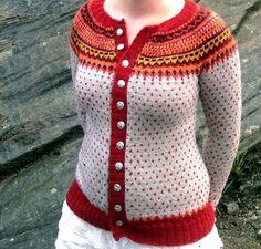Ravelry: Damejakka Loppa / Flea – a lady's cardigan pattern by Pinneguri Cardigan Pattern, Crochet Cardigan, Knit Crochet, Loom Scarf, Lace Knitting Patterns, Knitting Ideas, Icelandic Sweaters, Baby Girl Sweaters, Cardigans For Women