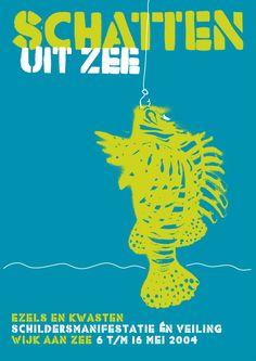 Poster voor Ezels & Kwasten door Peter Neijenhoff