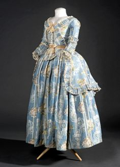 Polonaise jacket and petticoat, 1782-87