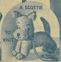 Scottie - toy dog - vintage knitting pattern. How cute is this x vj