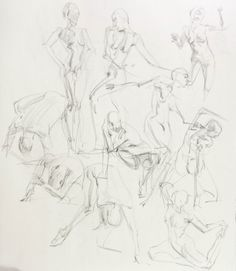 """WARA SKETCHES 2  Drawing, Charcoal on Paper, 24.0""""h x 18.0""""w $70 Free Shipping!"""