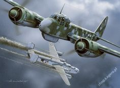 "The Junkers Ju 88 was a German World War II Luftwaffe twin-engined multirole combat aircraft. Designed by Junkers Flugzeug- und Motorenwerke (JFM) in the mid-1930s to be a so-called Schnellbomber (""fast bomber"") which would be too fast for any of the fighters of its era to intercept, it suffered from a number of technical problems during the later stages of its development and early operational roles, but became one of the most versatile combat aircraft of the war."