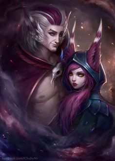 Xayah and Rakan - League of Legends by ChubyMi.deviantart.com on @DeviantArt