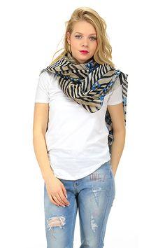 MANILA GRACE - Sciarpe - Abbigliamento - Sciarpa in cotone con stampa a fantasia. - MD225 - € 99.00