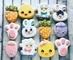 Decorated Easter cookies are such a cute addition to the Easter celebrations. Ge… Decorated Easter cookies are such a cute Easter Cupcakes, Easter Cookies, Easter Treats, Valentine Cookies, Birthday Cookies, Christmas Cookies, Easter Cookie Cutters, Birthday Bash, Iced Cookies