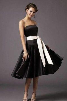 Classy black satin cocktail dress Koszorúslányok c83e17e8aa