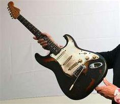 Jimi Hendrix Burnt Fender Strat Guitar