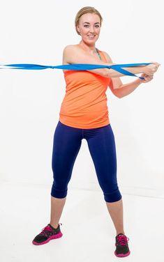 gummiband-övningar Yoga Fitness, Health Fitness, Pilates, Capri Pants, Hair Beauty, Sporty, Exercise, Gym, Running