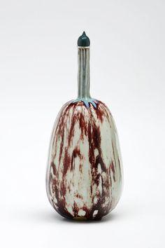 Kürbisförmige Flasche mit Stöpsel | Taxile Doat and Porzellanmanufaktur Sèvres | c.1900 | Museum Für Kunst Und Gewerbe Hamburg | CC0