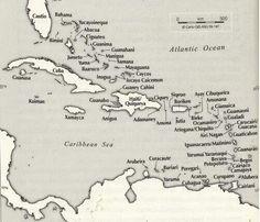 The Taino names of the Caribbean islands based on Jalil Sued-Badillo (ed.), 'General History of the Caribbean, vol. 1: Autochthonous Societies' (Paris: UNESCO Publishing/London: Macmillan 2003) Plate 8. via http://caribbeancivilisation.tumblr.com/post/39487889039/the-taino-names-of-the-caribbean-islands-based-on