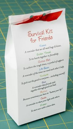 Ideas Diy Gifts For Friends Survival Kits Back To School Gag Gifts, Craft Gifts, Diy Christmas Gifts, Holiday Gifts, Xmas, Christmas Presents For Cousins, Creative Gifts, Unique Gifts, Easy Handmade Gifts