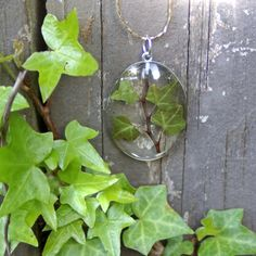 Beautiful nature ivy pendant ModernFlowerChild.Com