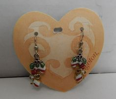 Genuine Brighton JE4242 Candy Cane French Wire Christmas Holiday Earrings NEW #Brighton #DropDangle