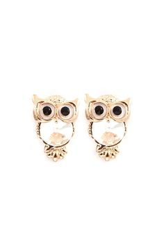 Crystal Owl Earrings on Emma Stine Limited   They are so cute!!!!