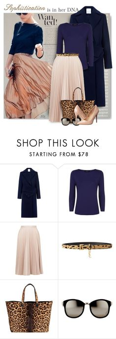 """""""Sophistication is in her DNA"""" by fashion-architect-style ❤ liked on Polyvore featuring C/MEO COLLECTIVE, Jaeger, Topshop, Yves Saint Laurent, Victoria Beckham, Linda Farrow, Madden Girl, women's clothing, women's fashion and women"""