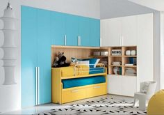 Turquoise and yellow