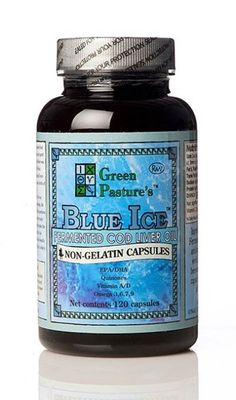 Green Pasture Blue Ice Fermented Cod Liver Oil - Produced in an all natural way, none of the essential omega-3 fatty acids are damaged in this product. It also contains some fantastic co-factors such as co-enzyme Q10 as well as vitamin A & D. This is probably the most healthy supplement out there.